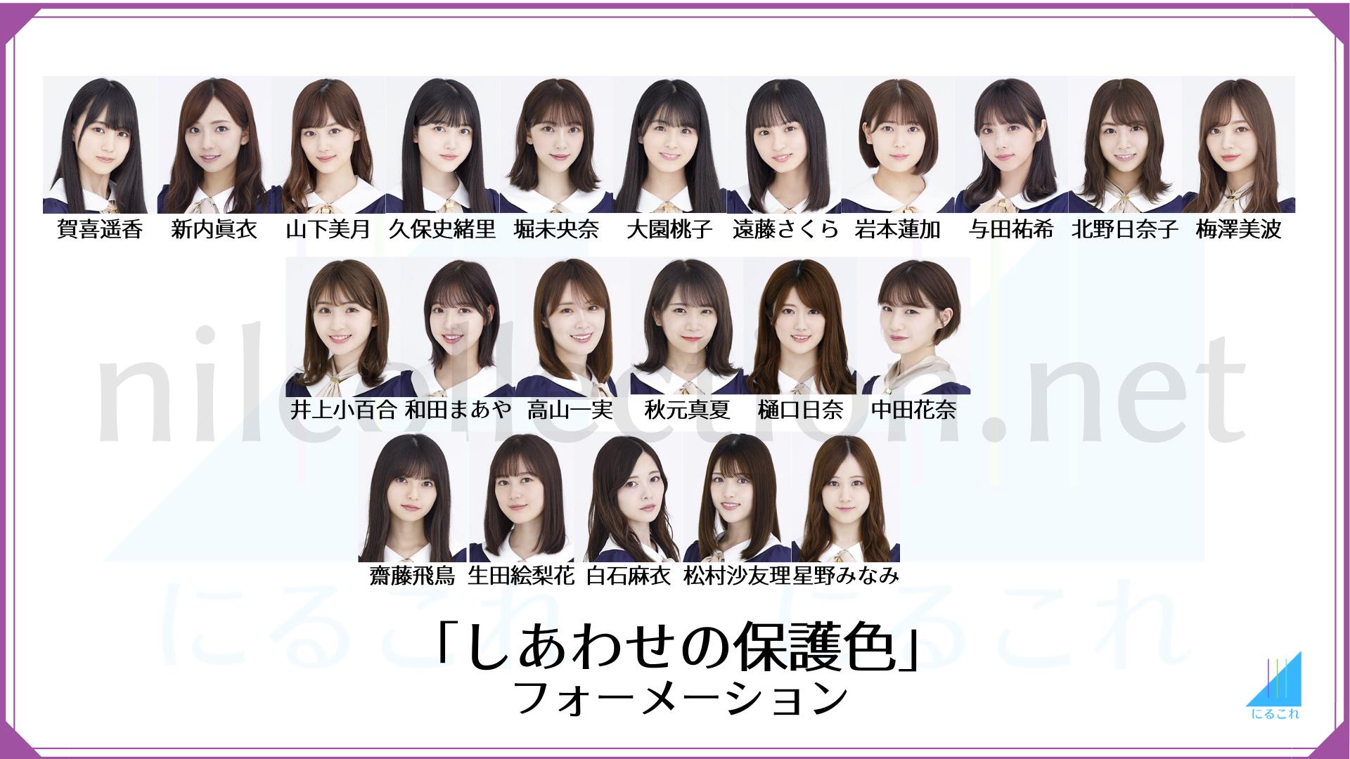 しあわせの保護色のフォーメーション 乃木坂46 25thシングル