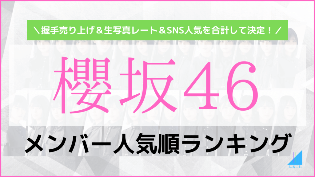 櫻坂46人気順メンバーランキング