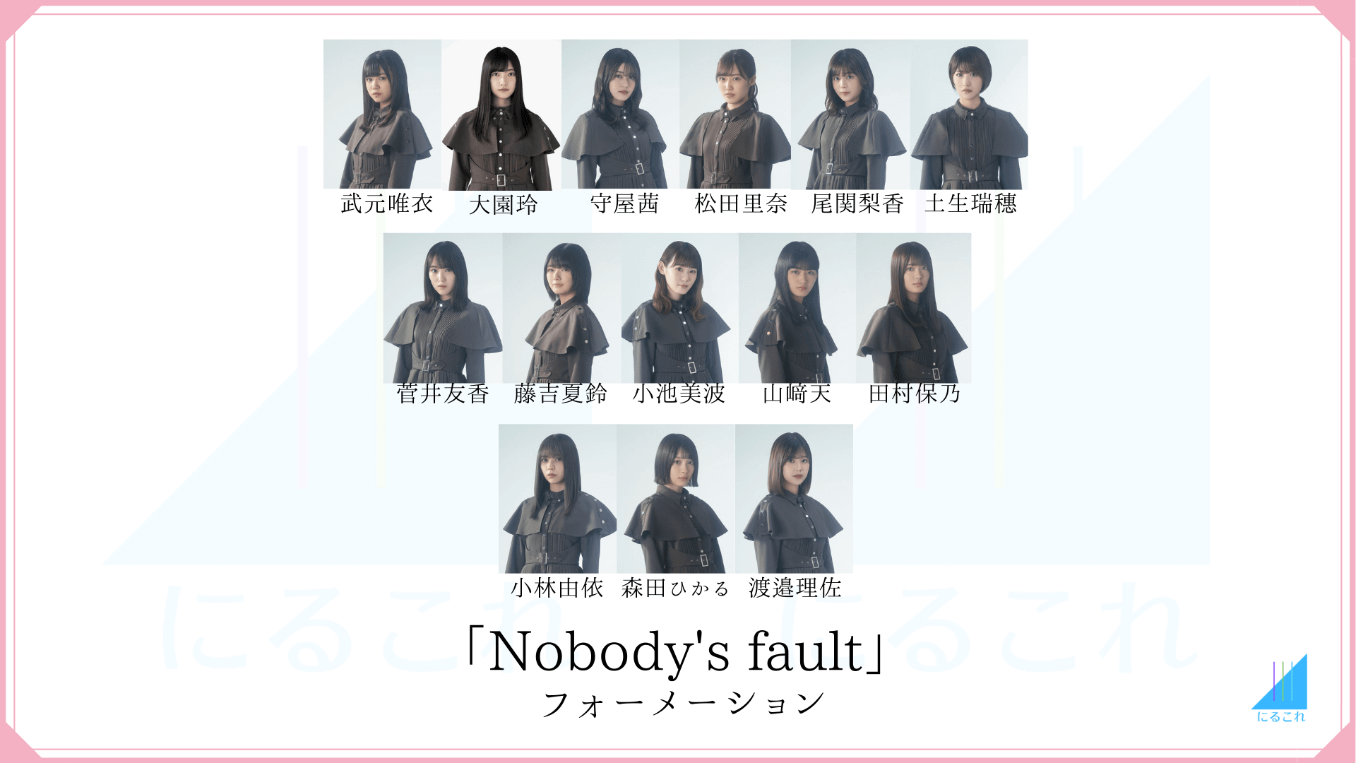 Nobody's faultのフォーメーション画像