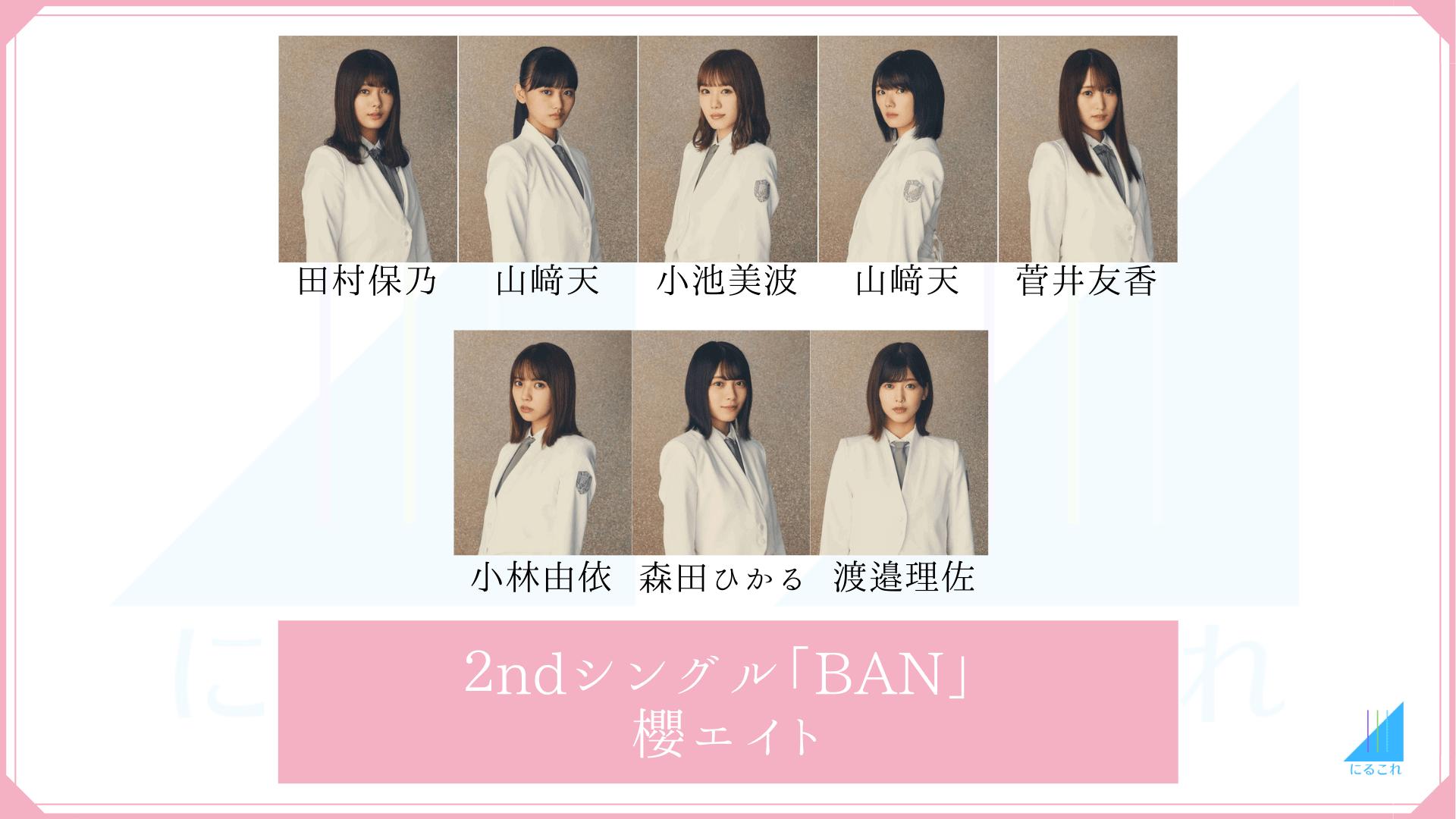 櫻坂46「BAN」の櫻エイトメンバー