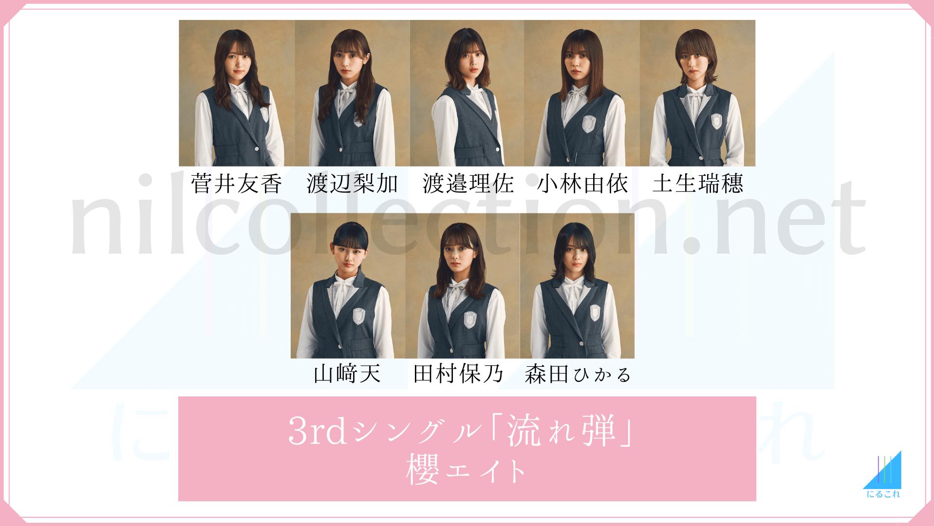 櫻坂46「流れ弾」の櫻エイトメンバー